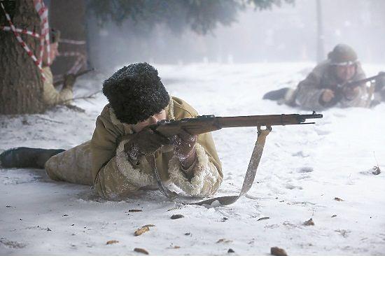 В Серпухове реконструировали военное контрнаступление